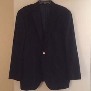 Land's End 100% Wool Navy Blue Blazer